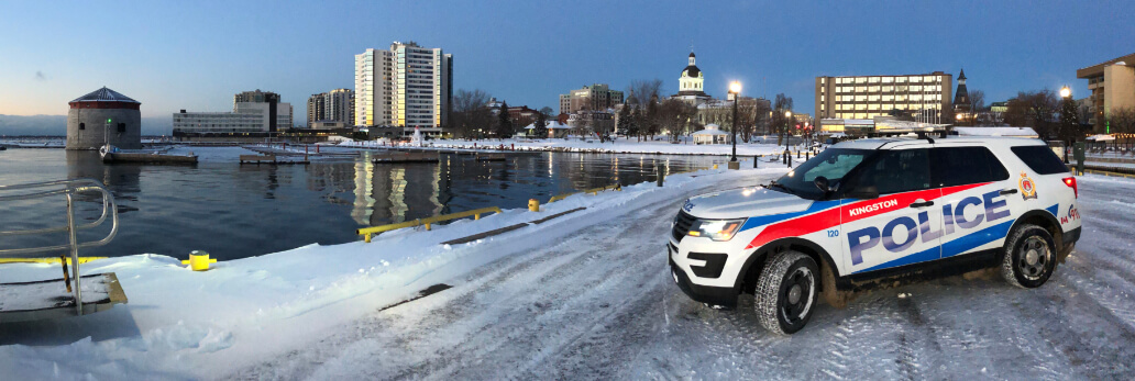 Kingston Police Cruiser by Lake
