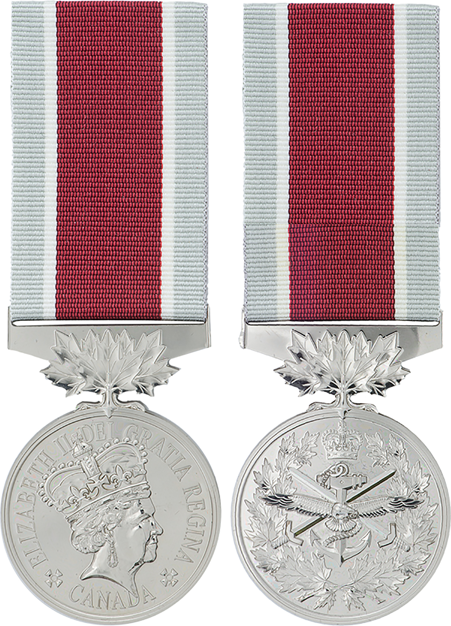 Front and rear images of a Canadian General Service Medal